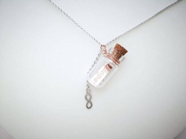 Personalizirana ogrlica Poruka u boci Hope