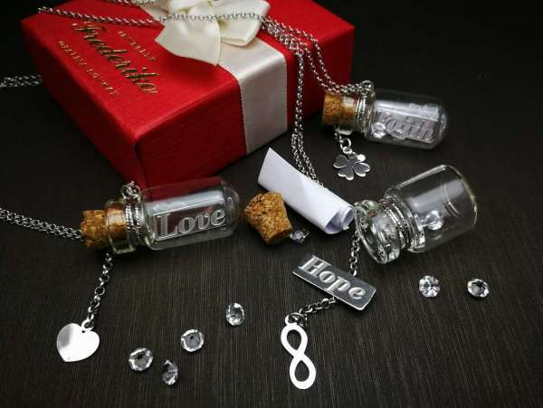 Personalizirana ogrlica Poruka u Boci Love