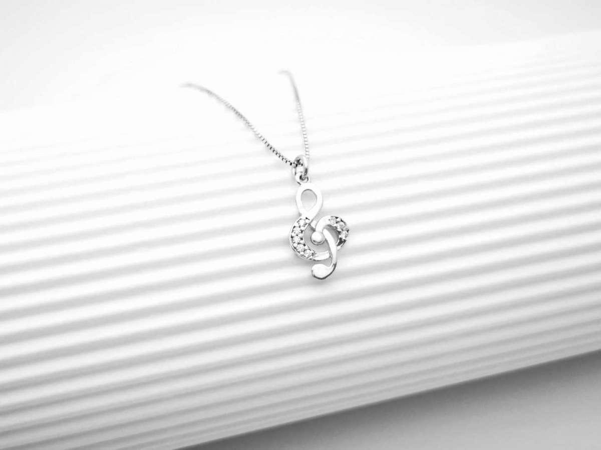 Violinski ključ srebrna ogrlica