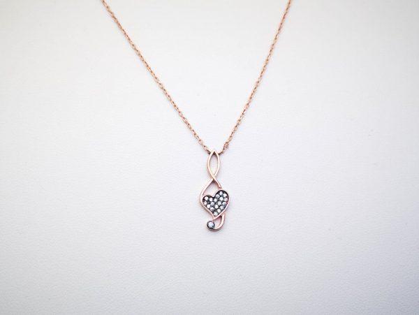 Srebrna ogrlica Violinsko srce