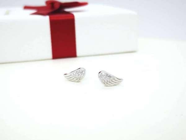 Anđeoska krila srebrne naušnice