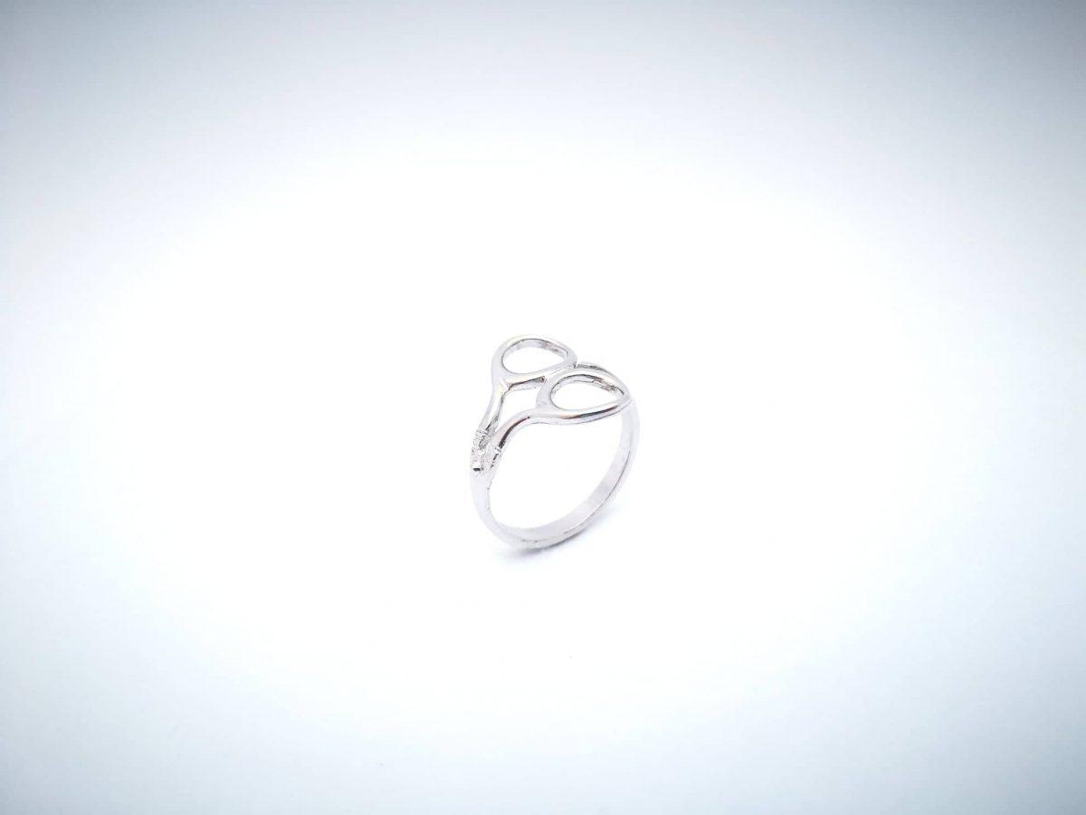 škare srebrni prsten