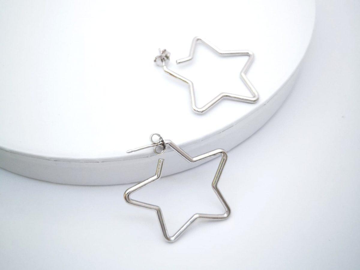Srebrne naušnice Star