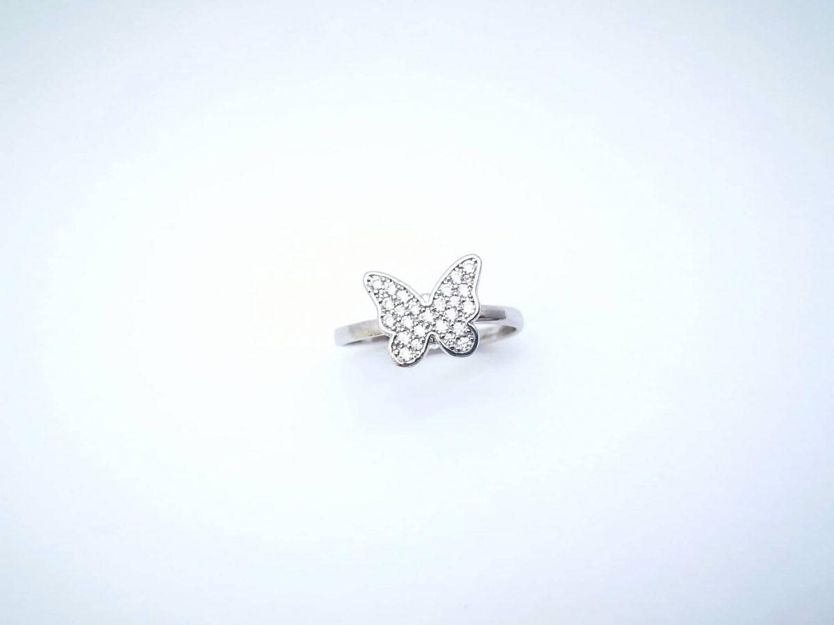 Srebrni prsten Leptir