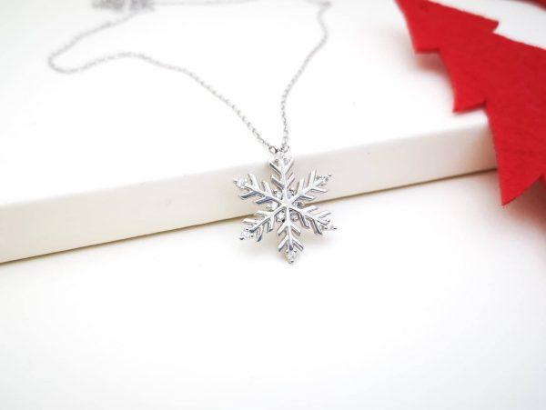 Srebrna ogrlica Snowflake