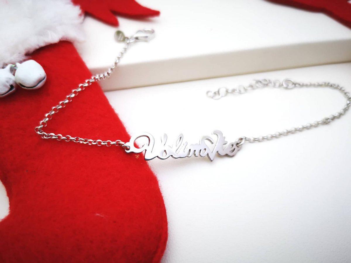 Volim te srebrna narukvica
