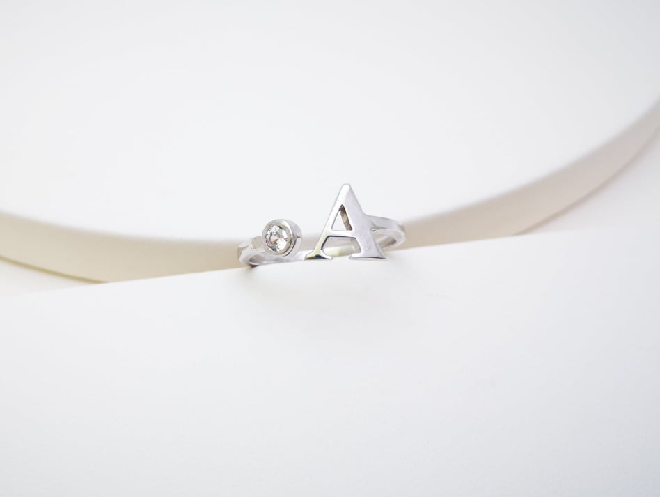 Personalizirai nakit prsten zlato srebro incijal