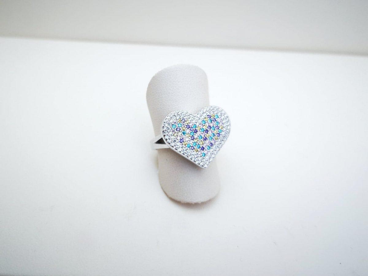 Color my Heart srebrni prsten