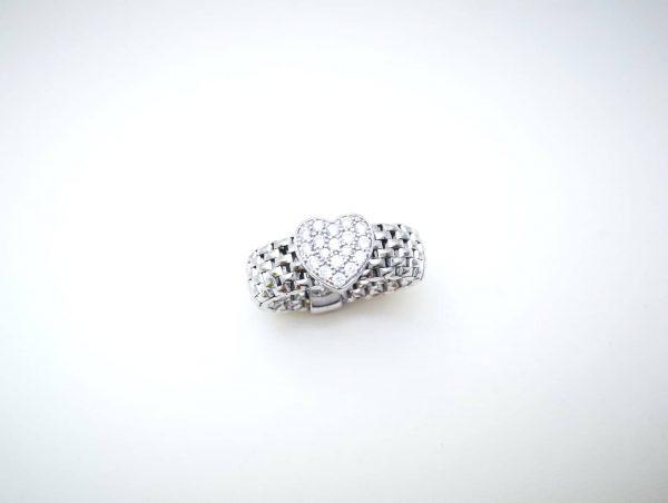 Heart Srebrni prsten
