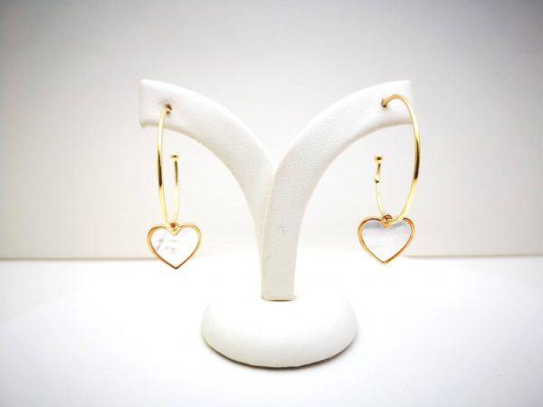 Krug ljubavi srebrne naušnice gold