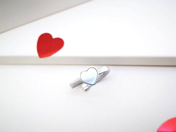Krug ljubavi srebrni prsten