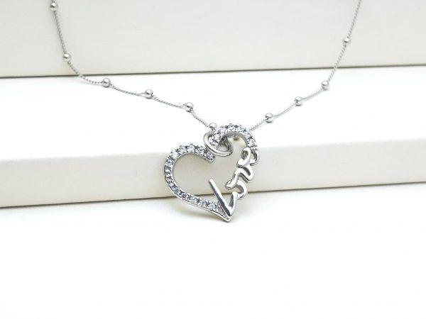 LOVE srebrna ogrlica