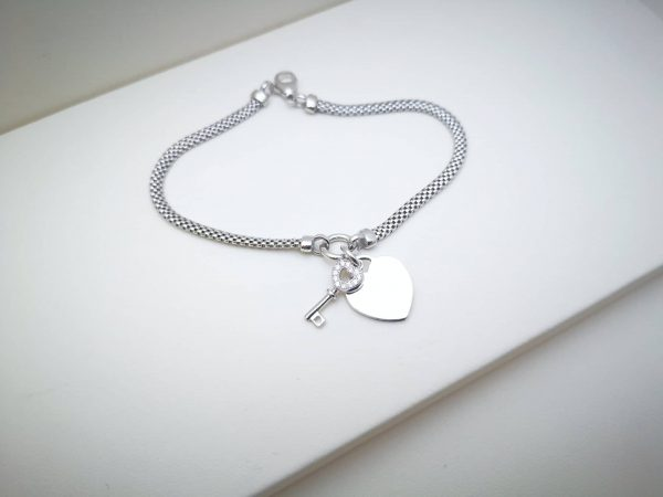Ljubavni ključić srebrna narukvica