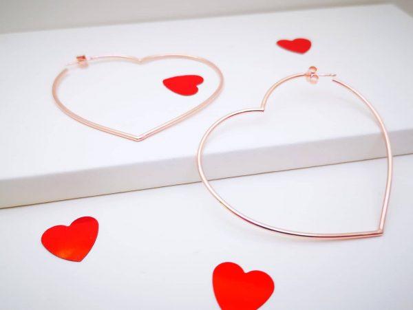 Srca otvorene srebrne naušnice
