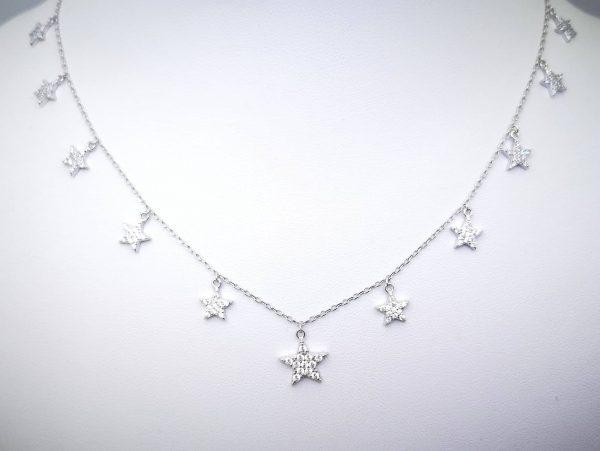 Srebrna ogrlica Stars