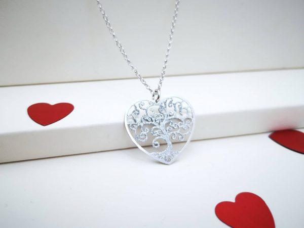 Stablo ljubavi srebrna ogrlica