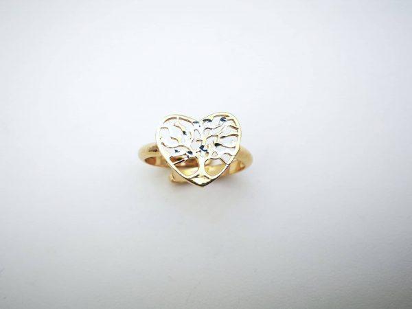Stablo ljubavi srebrni prsten gold