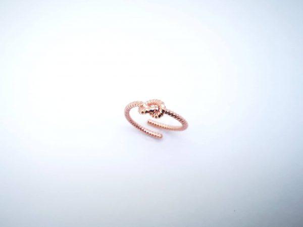 Ljubavni čvor srebrni prsten