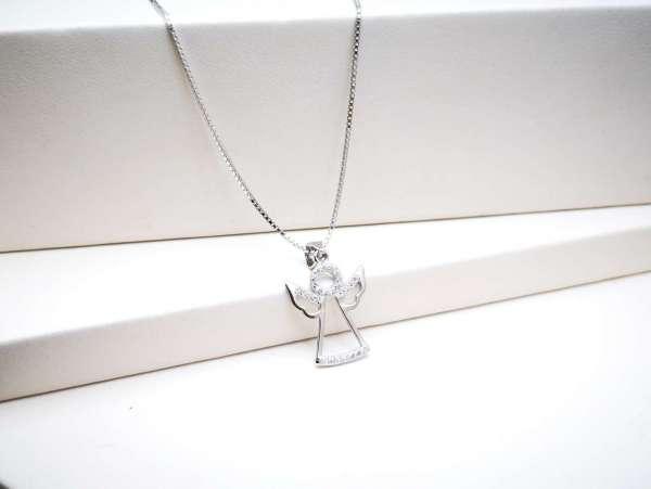 Anđeo čuvar srebrna ogrlica