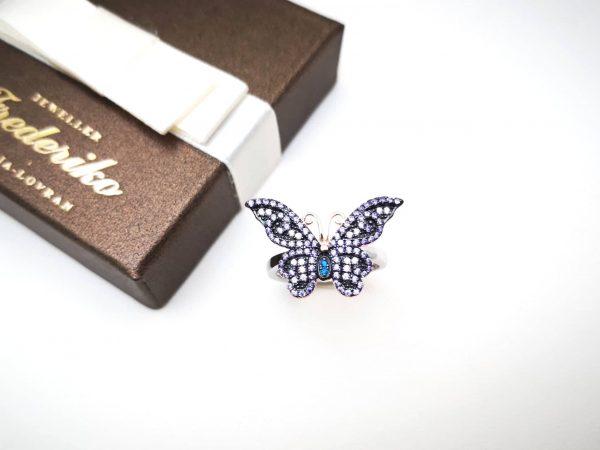 Butterfly srebrni prsten
