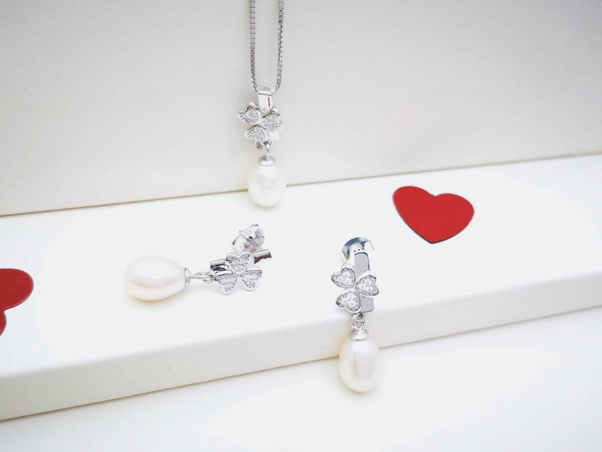 Pearls clover srebrni nakit