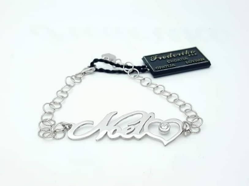 Personalizirana srebrna narukvica