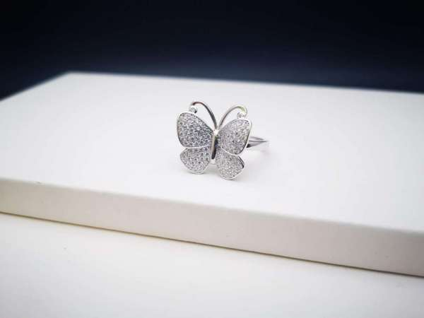 Butterfly heart srebrni prsten