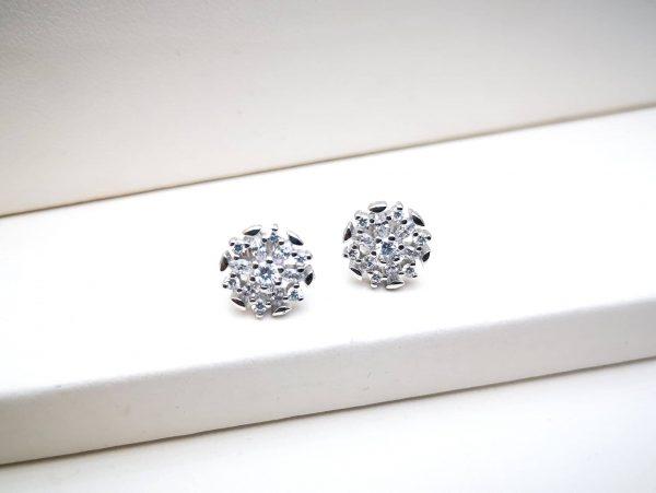 Crystal srebrne naušnice