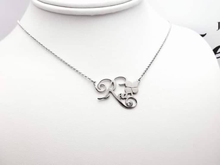 Ime personalizirana srebrna ogrlica