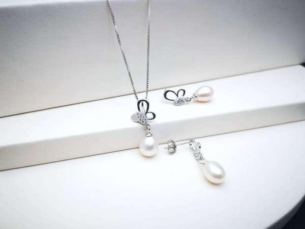 Butterfly pearls srebrni nakit