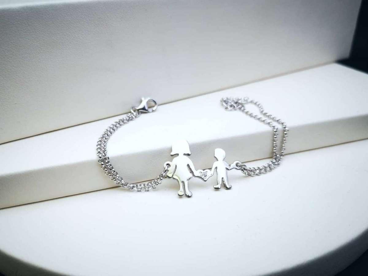 Mother & Son srebrna narukvica