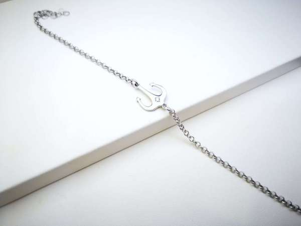 Anchor srebrna narukvica