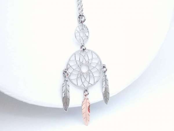 Dream catcher srebrna ogrlica