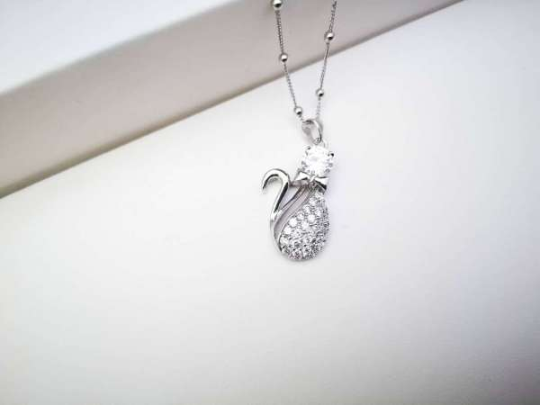 Kitty srebrna ogrlica