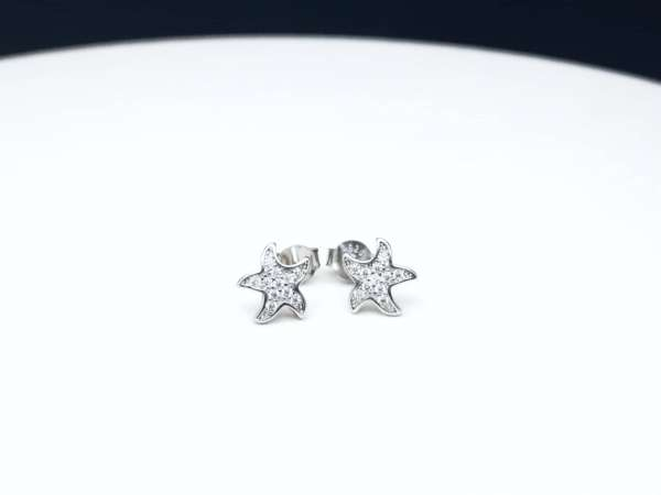 Sea Stars srebrne naušnice