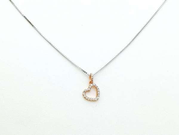 Slatko srce srebrna ogrlica