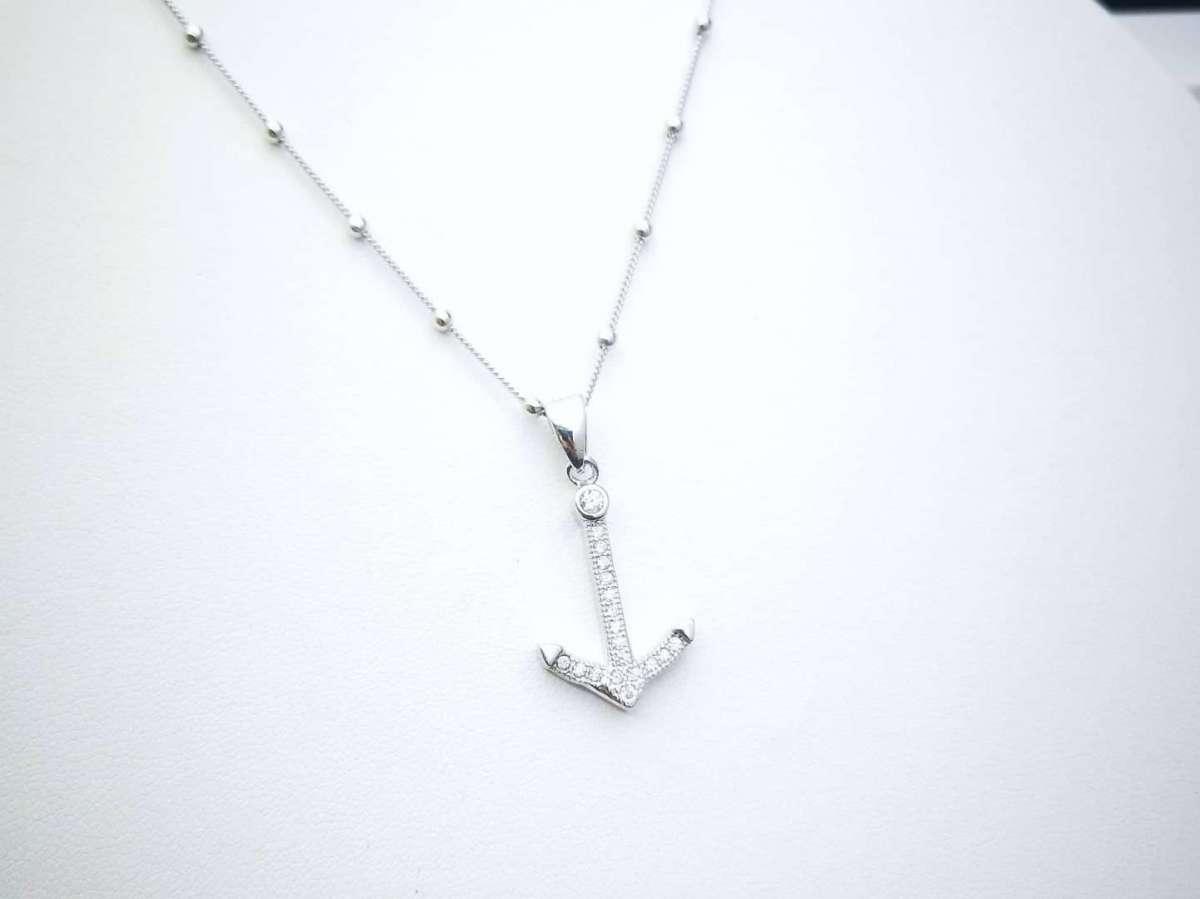 Sparkle Anchor srebrna ogrlica