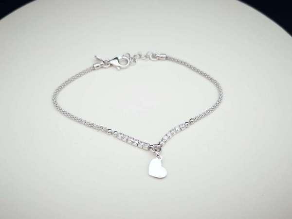 Heart srebrna narukvica