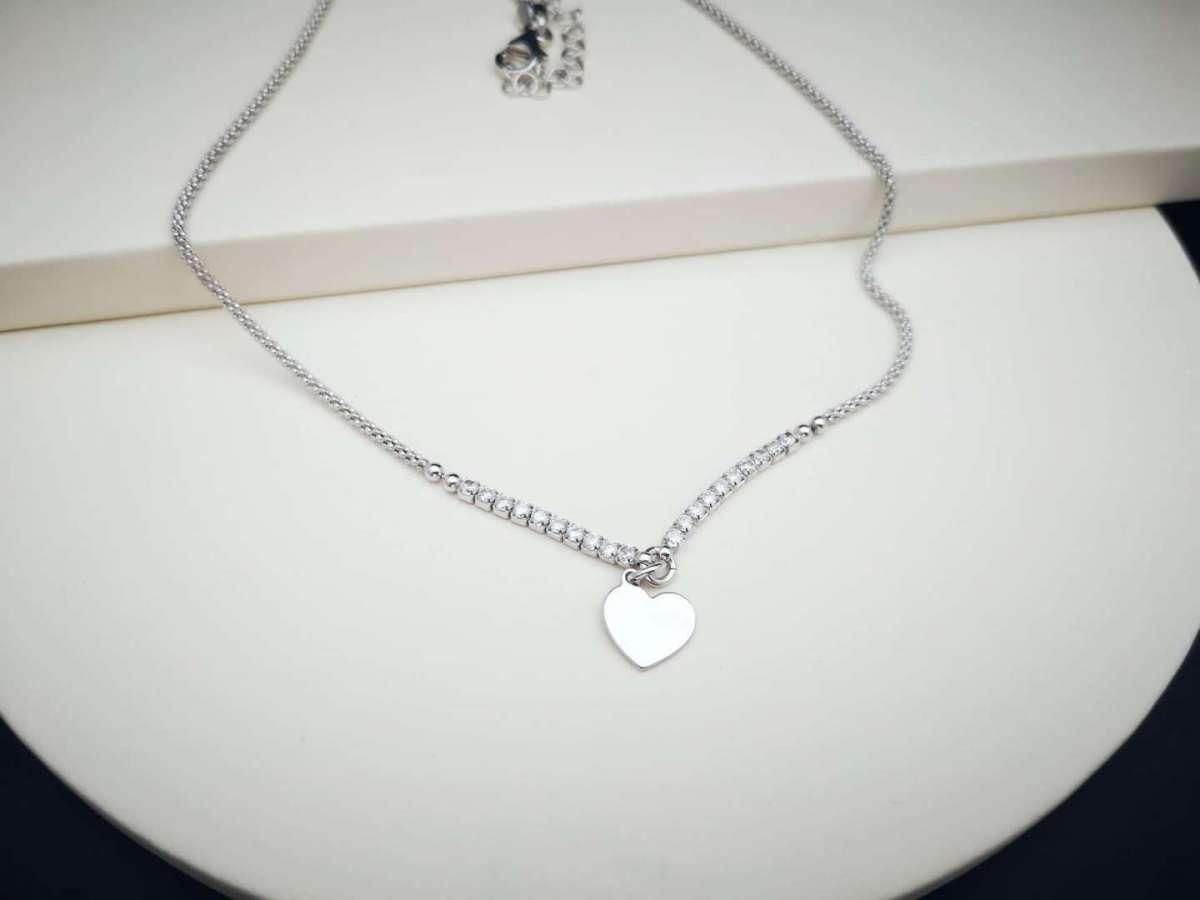Heart srebrna ogrlica