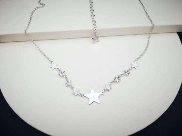 Srebrna ogrlica Silver Stars