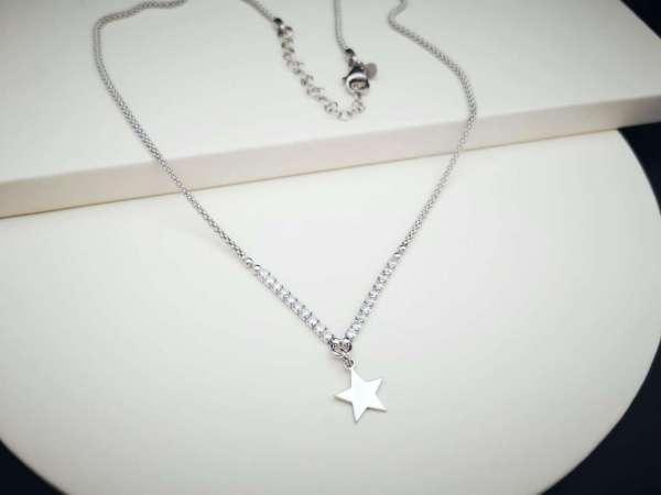 Star srebrna ogrlica