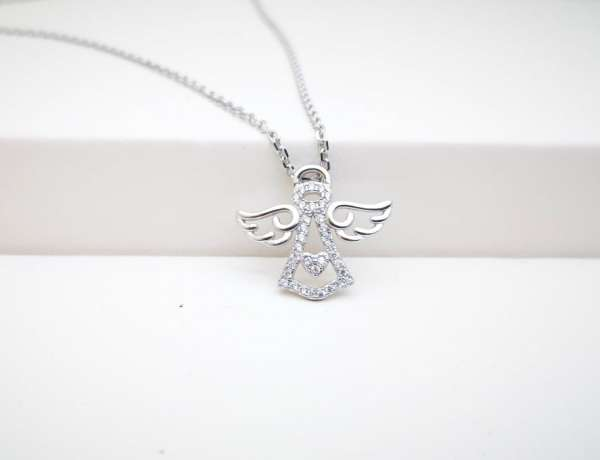 Anđeosko krilo srebrna narukvica
