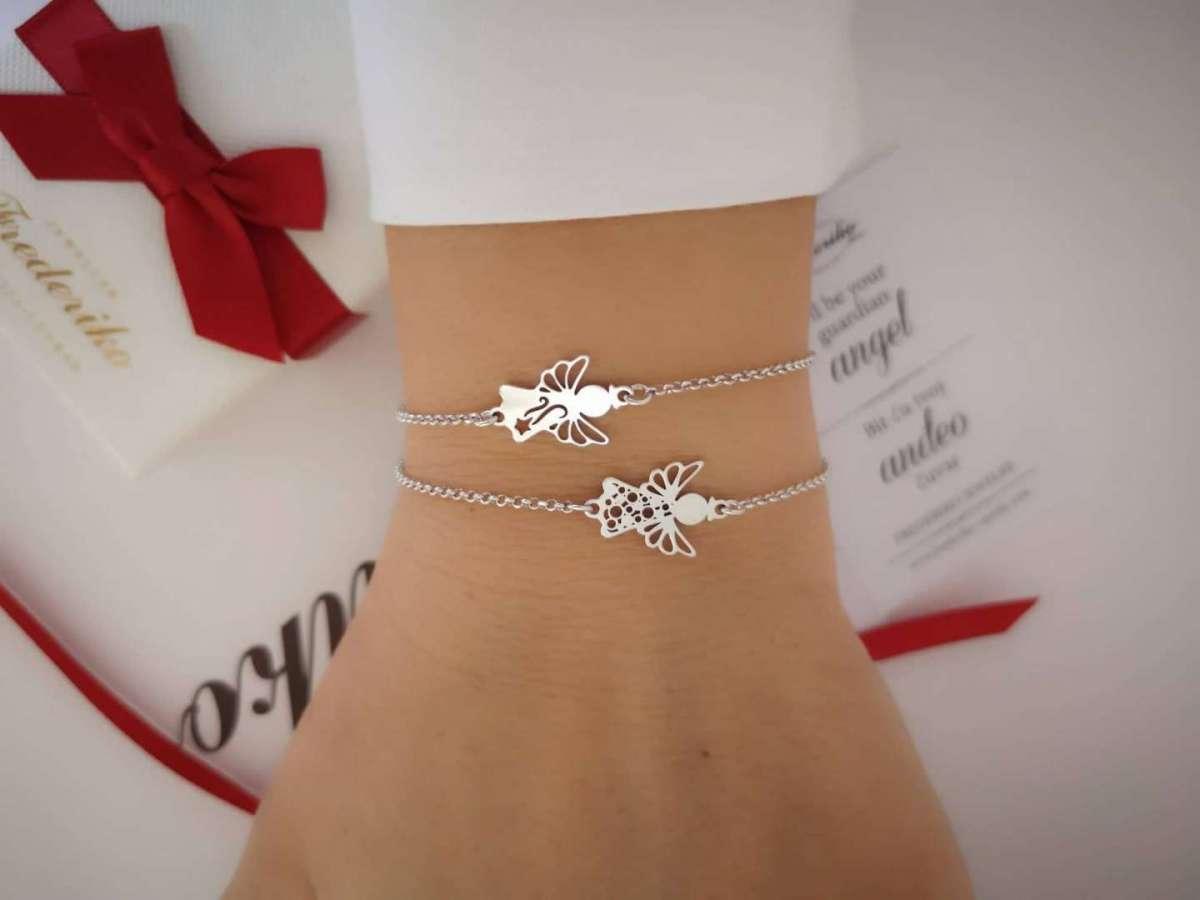 Angel star srebrna narukvica