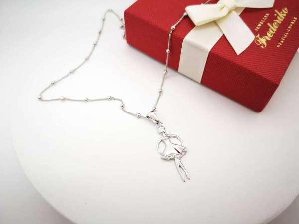 Balerina srebrna ogrlica