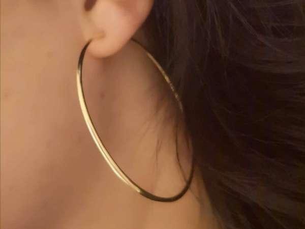 Circle gold srebrne naušnice