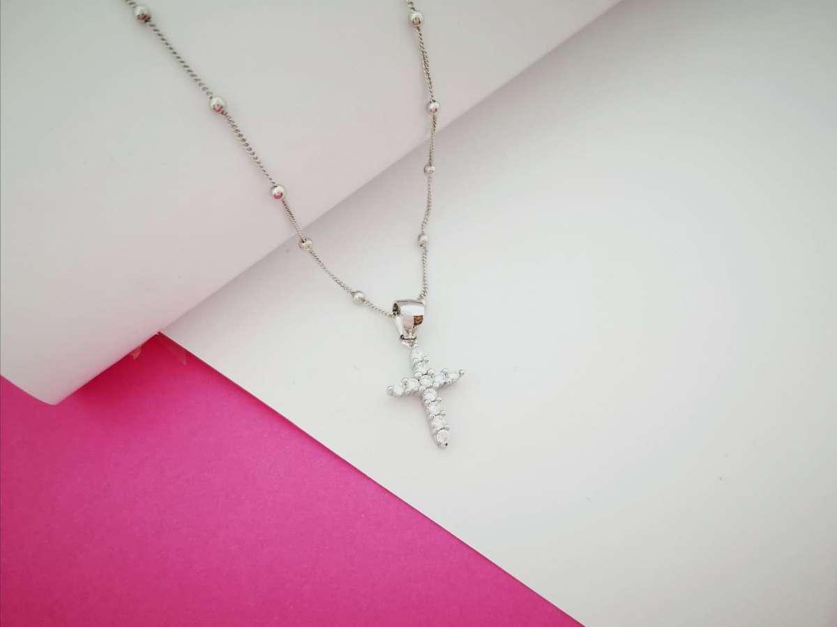 Faith srebrna ogrlica
