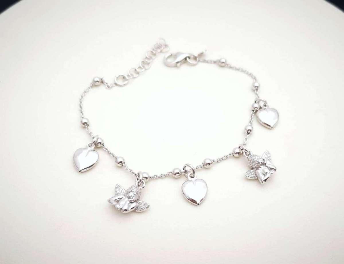 Guardian Angel heart narukvica srebro