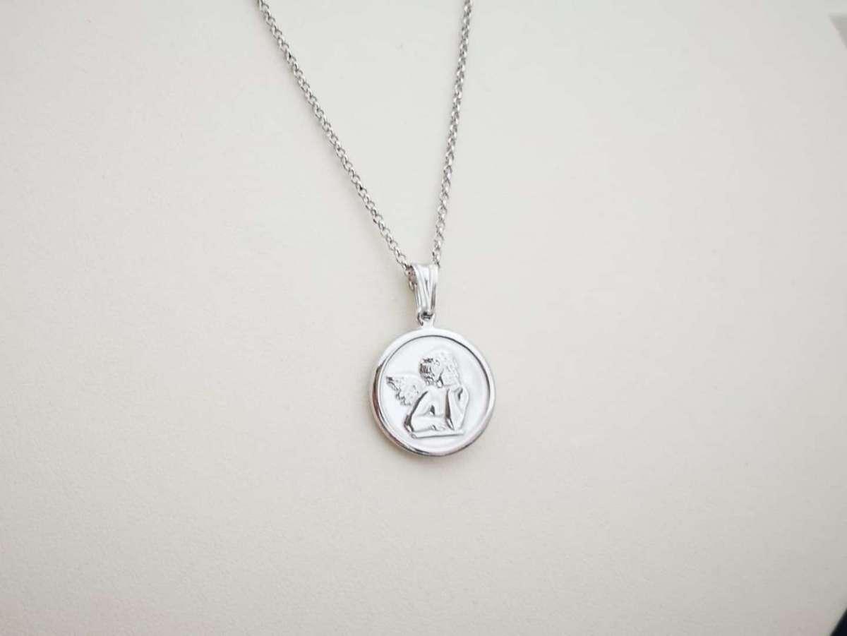 Guardian angel medaljon srebrna ogrlica