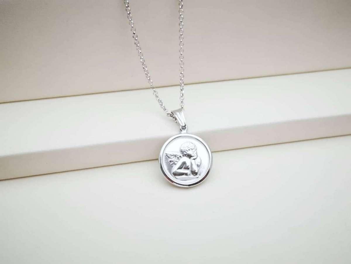 Guardian angel medaljon srebrni privjesak