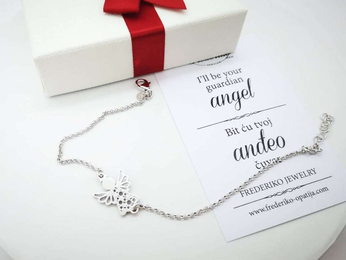 Happy Angel srebrna narukvica